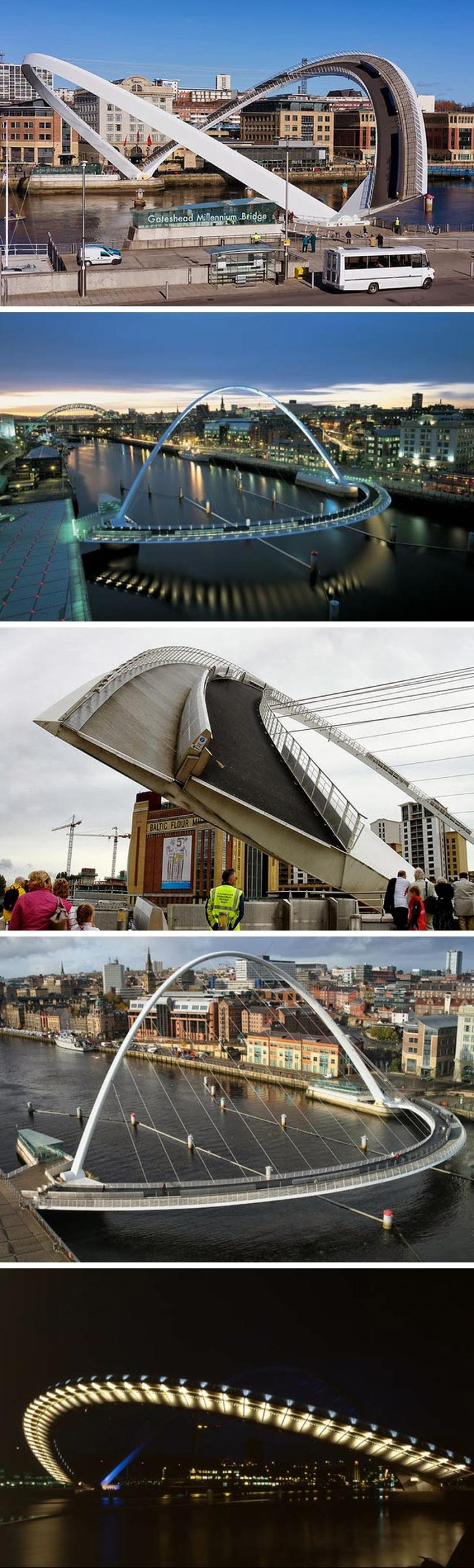 WilksonEyre Architects, Gateshead Millenium Bridge, Winking Eye Bridge, Blinking Eye Bridge, cool movable bridge