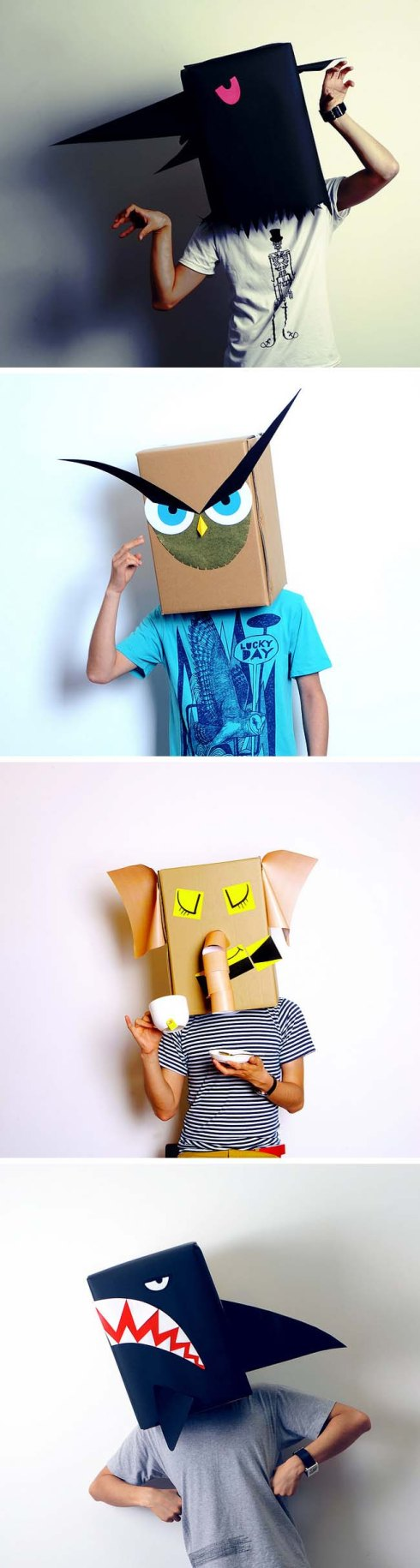 Linus Hui, Linus and the Feel Good Factory, Carton Animals, Costumes made from Paper