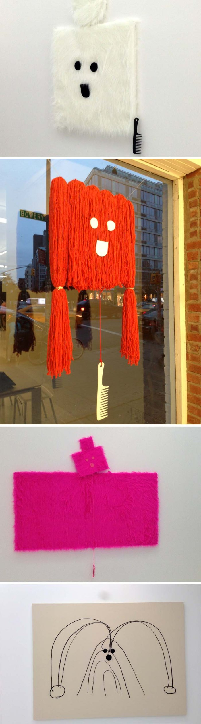 Misaki Kawai, The Hair Show, The Hole Gallery, fun, hairy sculptures