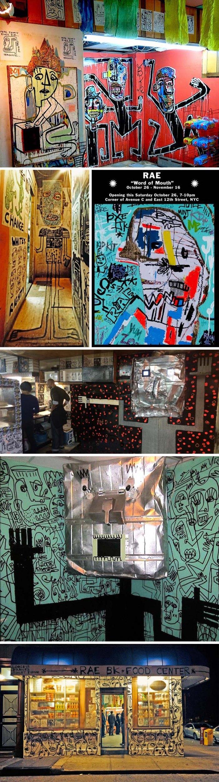 RAE street art, exhibit in East Village Bodega, Word of Mouth, Street Art, Graffiti