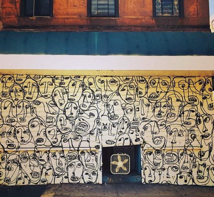RAE East Village Bodega covered in Street art, graffiti, Word of Mouth exhibit