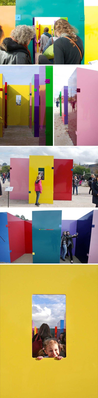 Tuileries Colored Sculpture, Sam Falls, Untitled, Hors les murs, Balic Hertling Gallery
