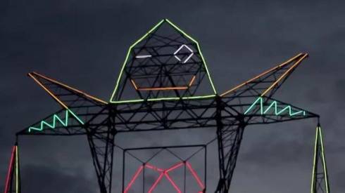 Coloso, giant robot-shaped electrical tower in Buenos Aires by Doma Collective for Tecnopolis