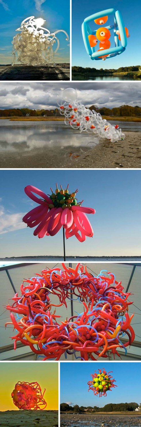 Janice Lee Kelly, Balloon Sculptures, Float, RISD alum, balloon installations and sculptures