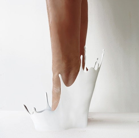 12 Shoes for 12 Lovers by Sebastian Errazuriz, fun shoe designs for Basel Miami 2013,  cool shoes, splash shoes, crybaby