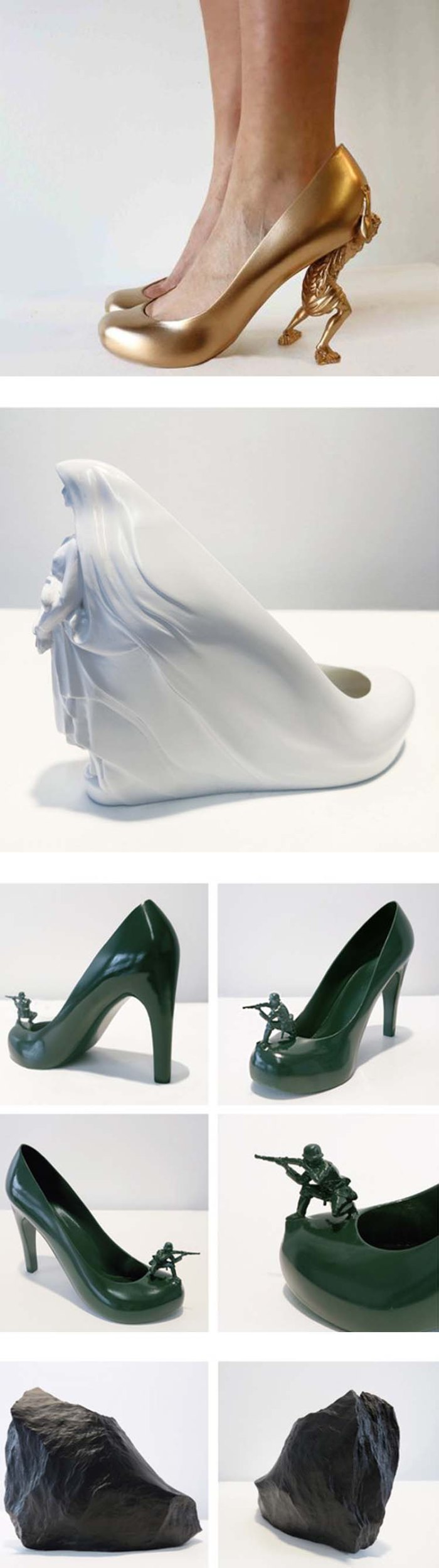 12 Shoes for 12 Lovers by Sebastian Errazuriz, fun shoe designs for Basel Miami 2013,  cool shoes