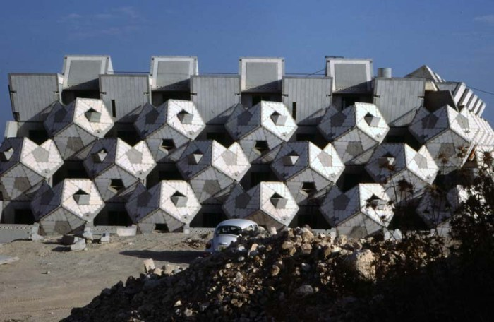 Ramot Housing, Jerusalem, Zvi Hecker, 1970s archictecture, dodecahedrons