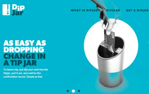 Credit card tipping gadget DipJar by Ryder Kessler