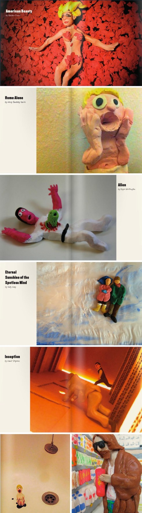 movie scenes made out of plasticine, modelling clay, casino