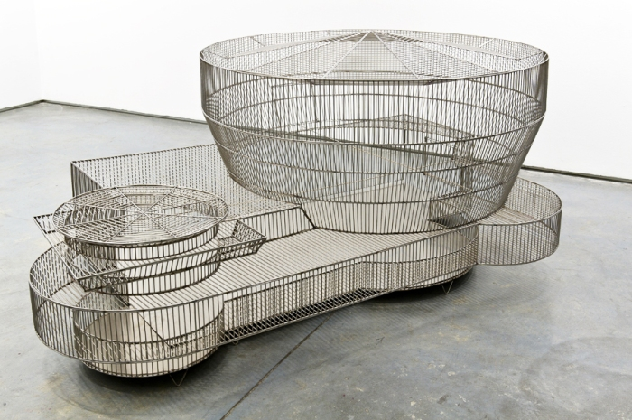 bird cages in shape of museums, guggenheim, tate, MASP, new museum, by marlon de azambuja. Contemporary sculpture, art