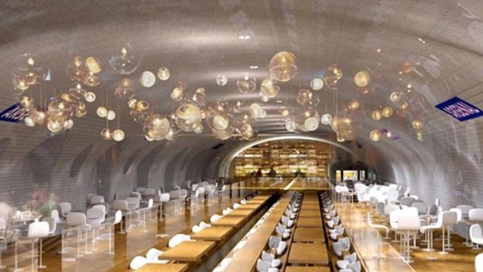 Reimagined/repurposing abandoned paris metro subway stations, cool architecture concepts for underground stations, OXO Architects + Laisne Architecte Urbaniste