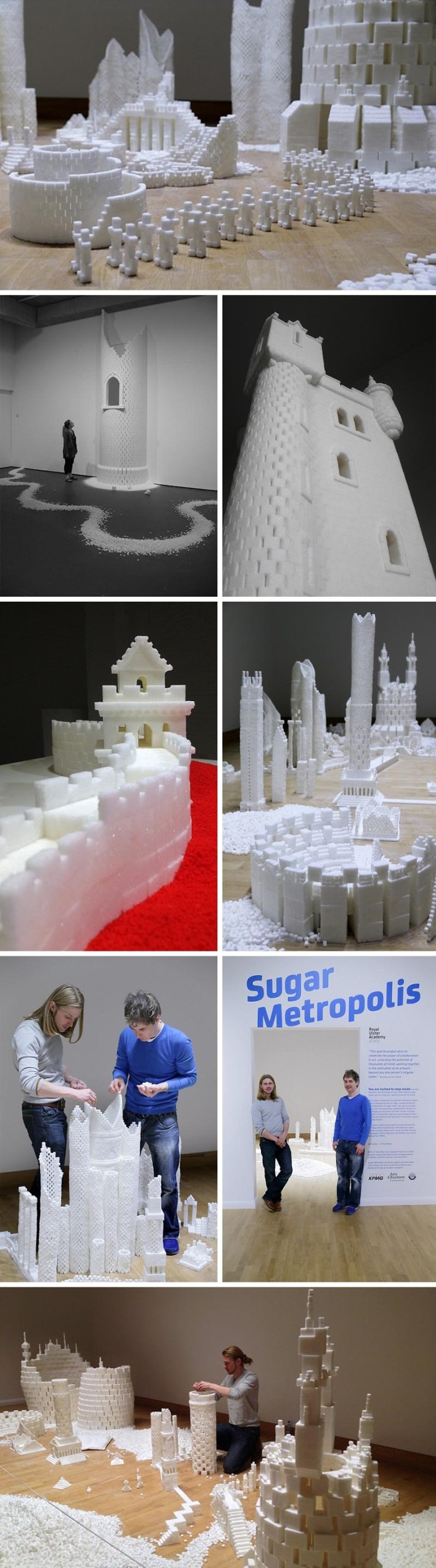 Sugar Metropolis project for kids in Harlem, Summer 2014, Brendan Jamison and Mark Revels, community art, sugar cube art