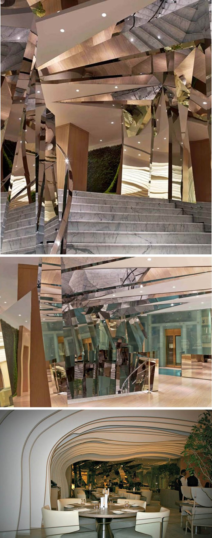 Veranda Cafe, Tihany Design, Adam Tihany, Kuwait City, Harvey Nichols, The Avenues Mall, contemporary architecture, restaurant design