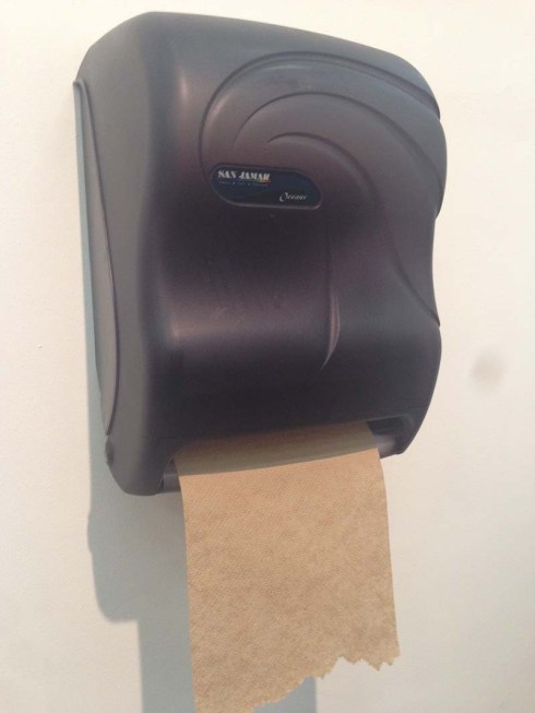 "Andrew Ohanesian, ""Oceans"" Paper Towel dispenser as art at Armory Show 2014, Pierogi Gallery"