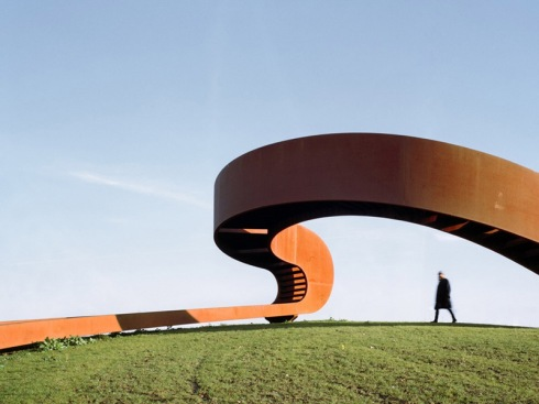 Elastic Perspective by NEXT Architecture, Circular stair to panoramic viewpoint, Mobius Strip