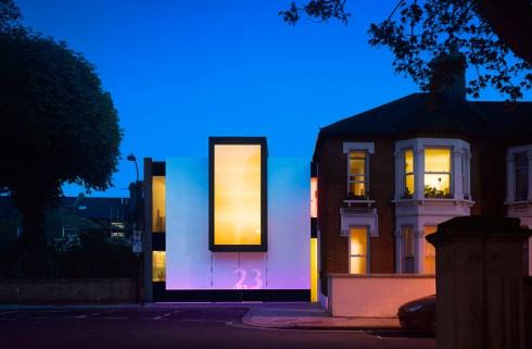 Number 23, Private home in London designed by MATT Architecture, typography in architecture, contemporary architecture