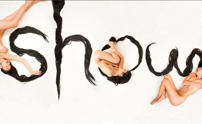 Hair Alphabet by Shurong Diao, Type made with hair, Chinese calligraphy style, typography
