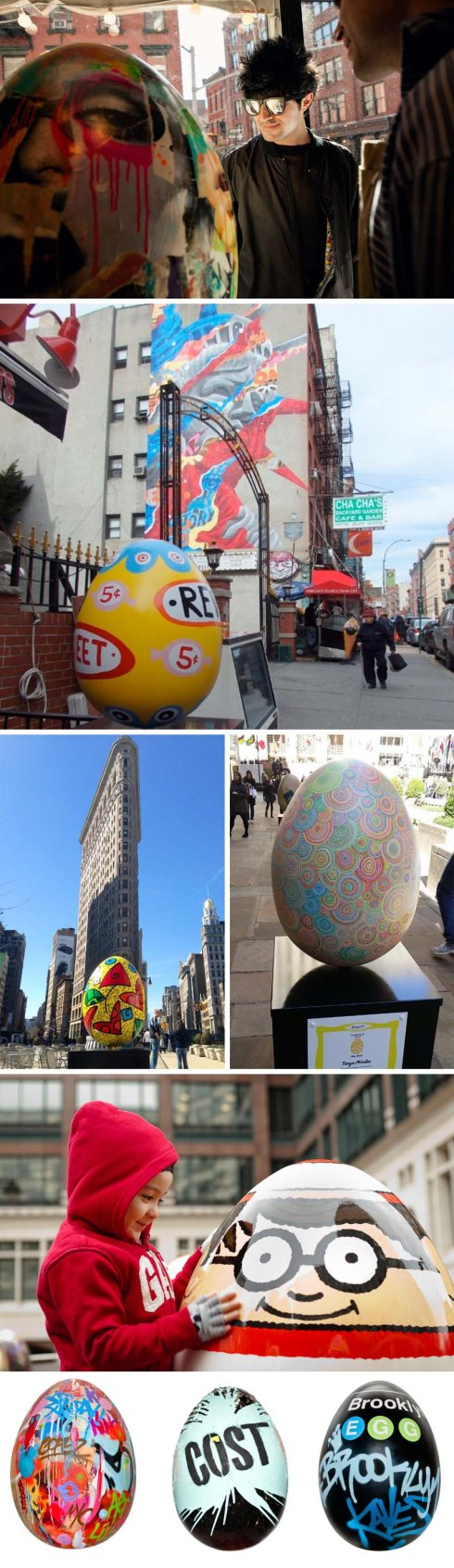 #TheBigEggHuntNY, Faberge Eggs painted by over 200 artists and hidden around NYC, Spring 2014, public art