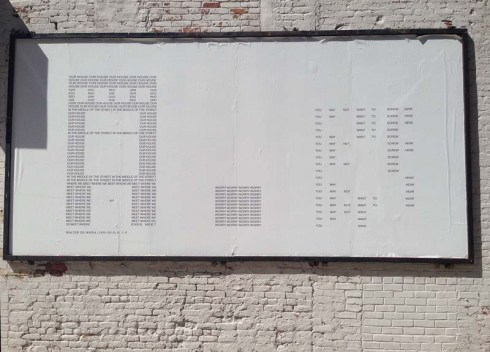 Concrete Poetry, Visual Poetry by Karl Holmqvist, West Village, Gavin Brown's Enterprise, murals, street art, typographic street art