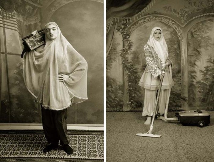 Shadi Ghadirian, Contemporary Iranian Photography, Qadar, Women and domesticity, role in society