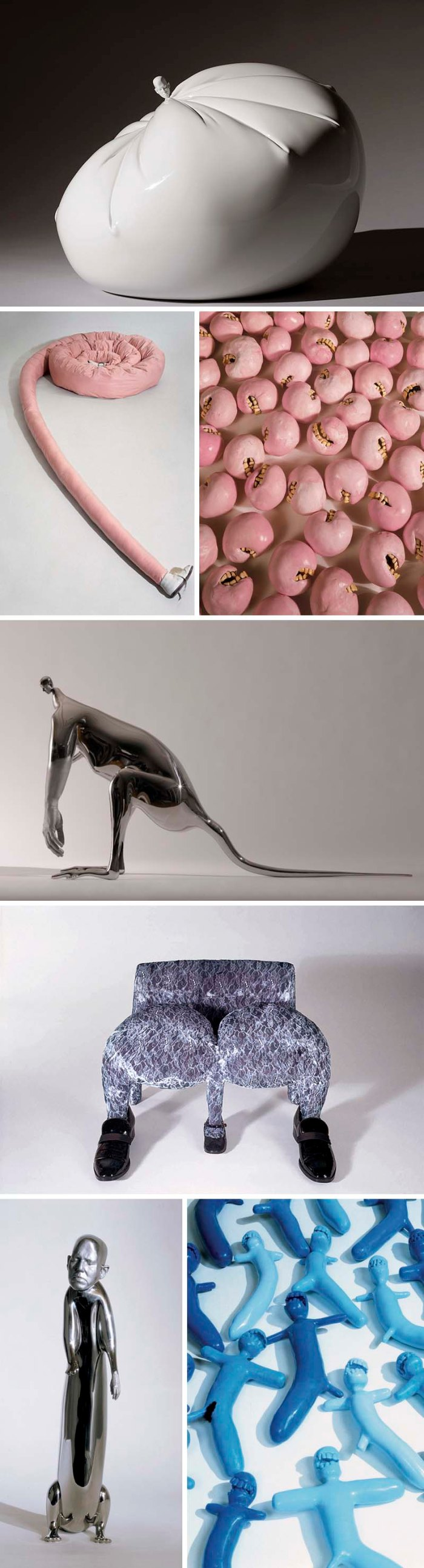 Rona Pondick, Hybrids, sculpture, bizarre art, teeth, humorous art