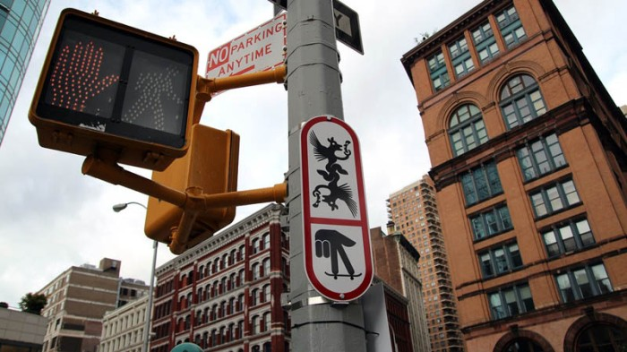 Ryan McGinness, Department of Transportation Public Art Project, DOT, street signs, street art, graphic design, fun art, nyc
