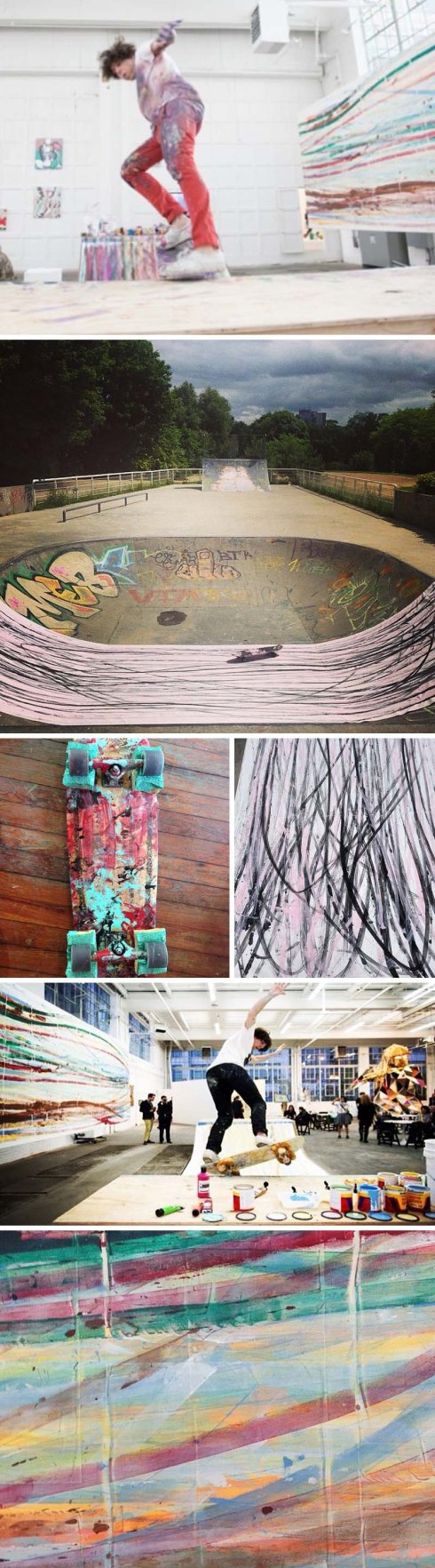 Skateboard Painting, matt reilly, japanther, Mana Contemporary, performance art, abstract painting, cool art