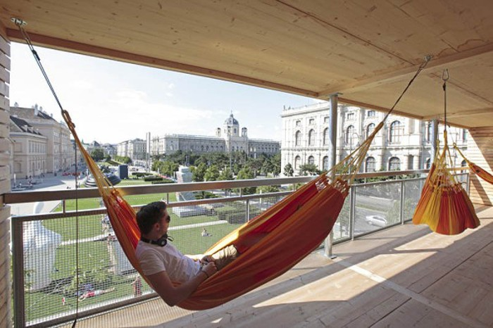 House of Hammocks, Hammock House, Vienna, Flederhaus, Heri & Salli Architects