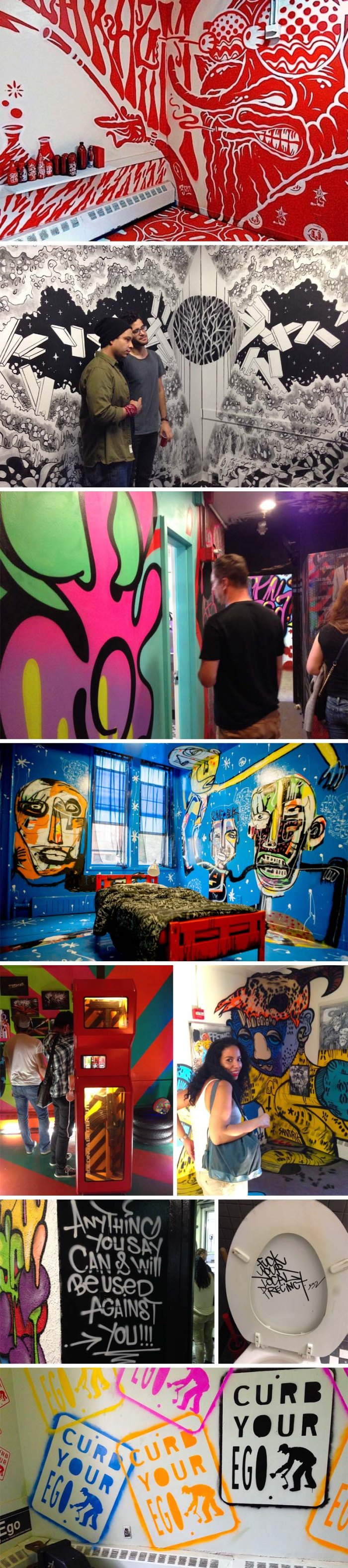 21st Precinct NYC, Graffiti, Street art exhibit, Outlaw Arts, NYC art exhibit in an abandoned police station building