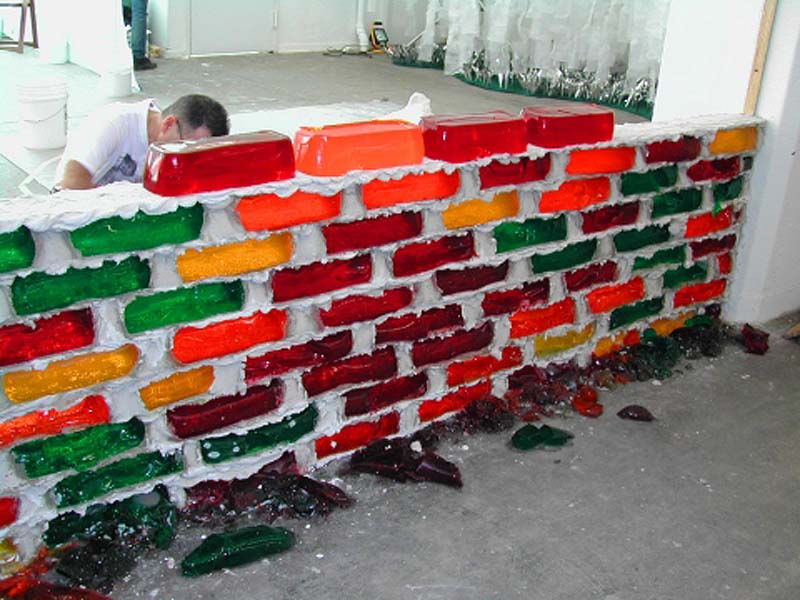 Brick Wall Art jello brick wall: hein & seng | collabcubed