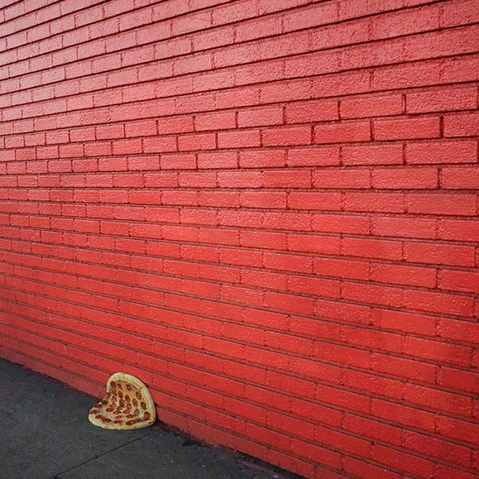 Pizza in the Wild, instagram photo series, Jonpaul Douglass, Humorous photos, pizza pies. Little Caesars pizza, Street photography