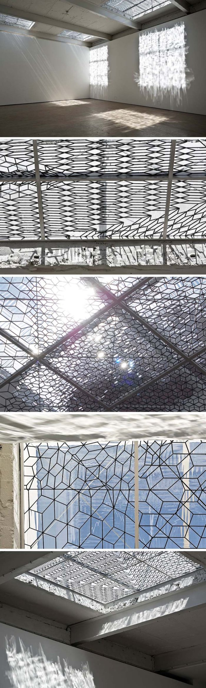 Richard Wright, Modern Institute, Aird's Lane glass skylight installation