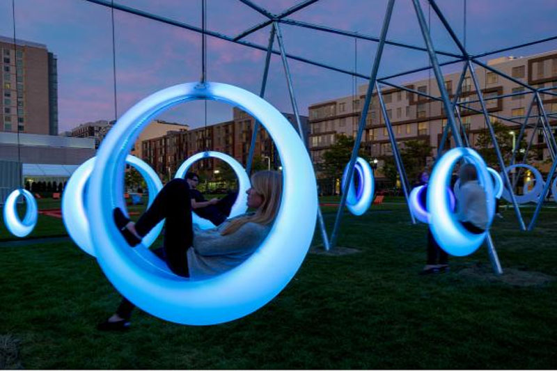 Swing Time Installation By Howeler Yoon Architecture In Boston September 2014 Cool Light